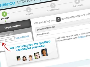 Experience – Proactive Post Talent/Employer Matching Engine