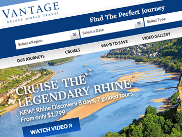 Vantage Deluxe World Travel – Website & Online Booking Engine